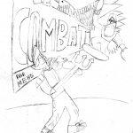 Couv de BD en cours de dessin ado