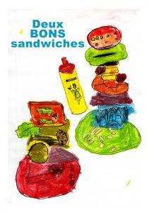 Deux bons sandwiches