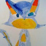 Peinture de Pokemon à l'aquarelle.
