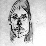 Portrait réalisé par des enfants - cours de dessin - estelle emyrand