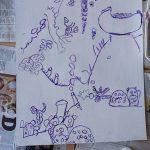 Illustration par des enfants - Nature - - arts visuels - CE1 - Rillieux la Pape, parcours artistiques 2021 Charmier Jousse - Estelle Meyrand -