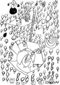 HNM - dessins d'enfant - croquis d'après photos. Rillieux la Pape - parcours artistiques 2021 - Ecole des Semailles CE1 - Arts Visuels - Estelle Meyrand -
