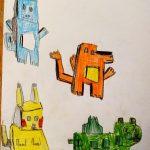 Dessin de perspective avec des enfants- Ateliers Terreaux Lyon - Estelle Meyrand
